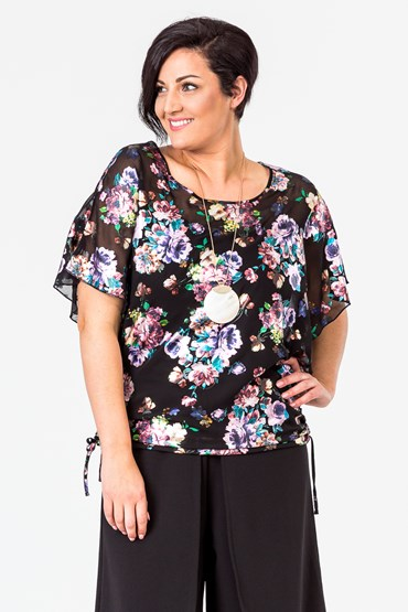 FOIL PRINT SIDE GATHER TOP