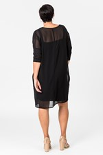 SLINKY DRESS W SLIP - black