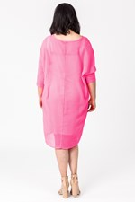 SLINKY DRESS W SLIP - candypink