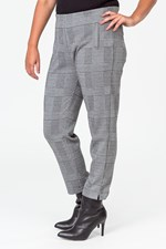 CHECKED OUT TUMMY TRIMMER PANT - blkwhtck