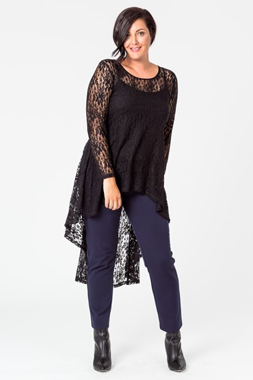 LACE FLAMINGO TOP