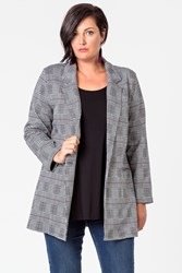 HOUNDSTOOTH LONG LINE JACKET