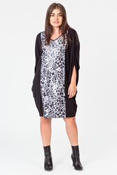 ANIMAL SEQUIN DOLMAN DRESS