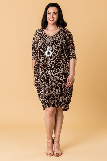 ANIMAL VEE NECK TUNIC