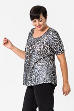 FOIL ANIMAL FLARED TOP - animal