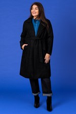 BELTED TRENCH - black