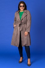 BELTED TRENCH - macadamia 1