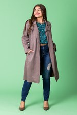 BELTED TRENCH - macadamia