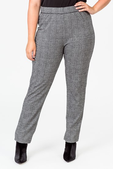 PULL ON CHECK PANT