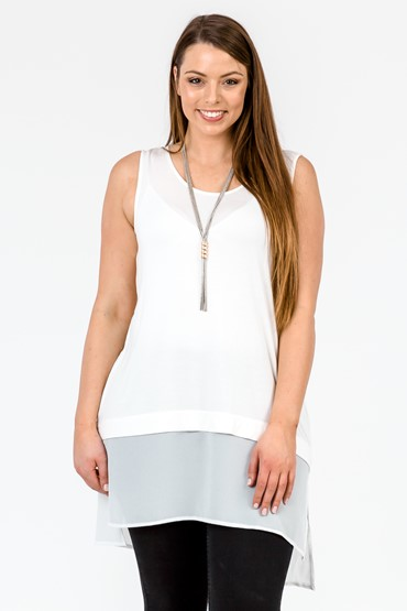 CHIFFON SIDE SPLIT SINGLET