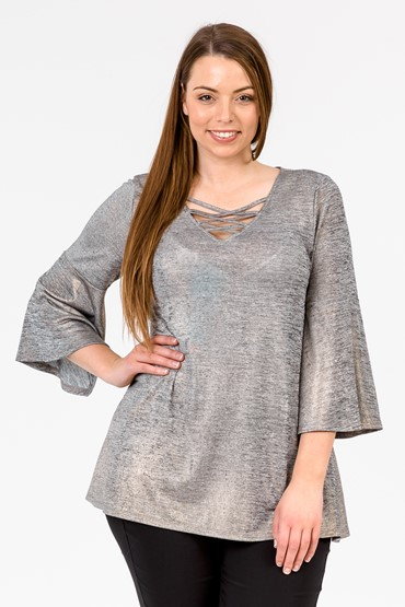 BELL SLV GOLD FOIL TOP