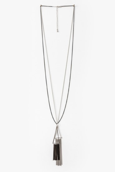 DOUBLE TRIANGLE CHAIN NECKLACE