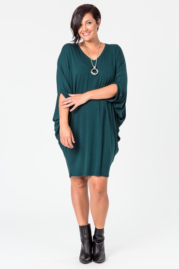 WINTER DOLMAN DRESS