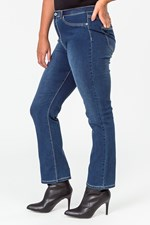 LW STRAIGHT LEG ULTIMATE JEAN - drkwash
