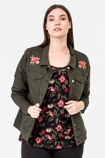 FLOWER EMBROIDER JEAN JACKET