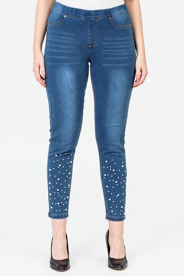 PEARL TRIM PULL ON JEGGING
