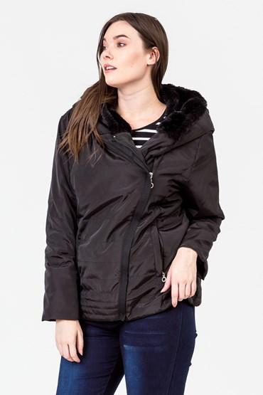 QUILTED SIDE ZIP JACKET