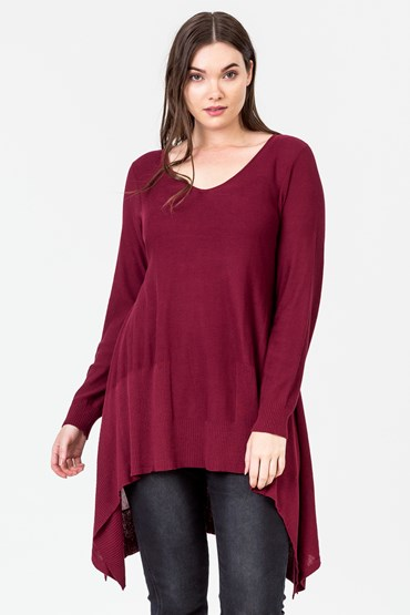 TRAPEZE SIDE HEM JUMPER