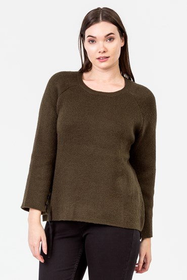 CONTRAST THREAD FLUTED SLV JUMPER