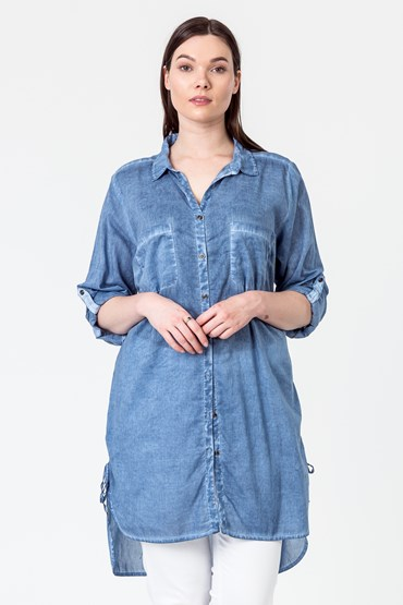 RESORT ROUCH HEM SHIRT