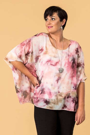 GRACE OVERSIZED PRINT TOP