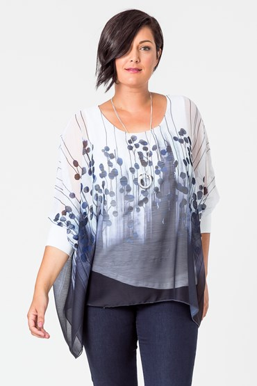 PRINT SQUARE KAFTAN TOP