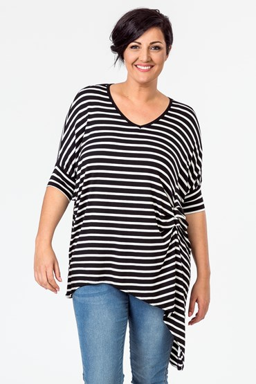SLOUCHY STRIPE TOP