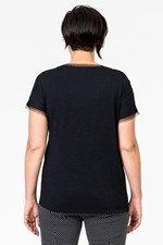 BUTTERFLY MESH OVERLAY  TEE - black