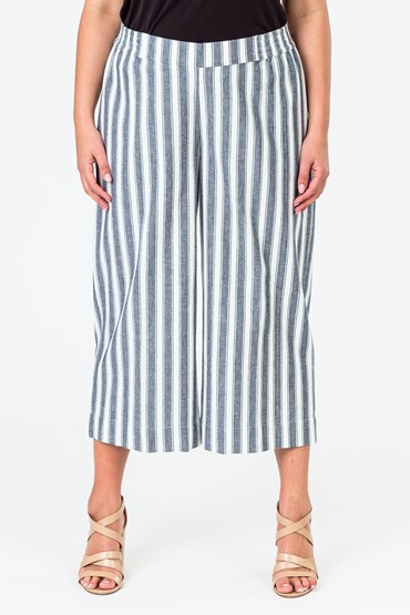 STRIPE PIER CROP PANT