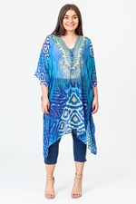 LONG KAFTAN - bluegreen