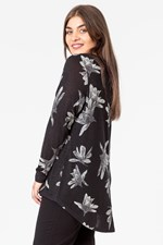 SPLIT BACK HI LOW VEE TOP - blacklily