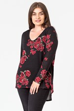 SPLIT BACK HI LOW VEE TOP - climbroses