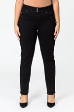 BUTTER DENIM TUMMY TRIMMER JEAN - black