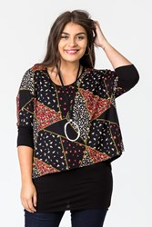 PATCH WORK PRINT DBLE LAYER TOP