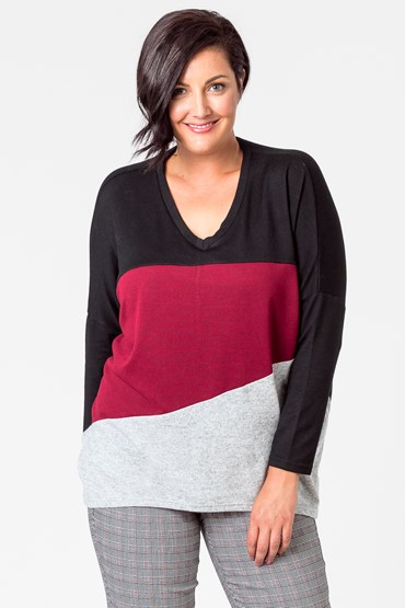 ANGLED COLOUR BLOCK TOP