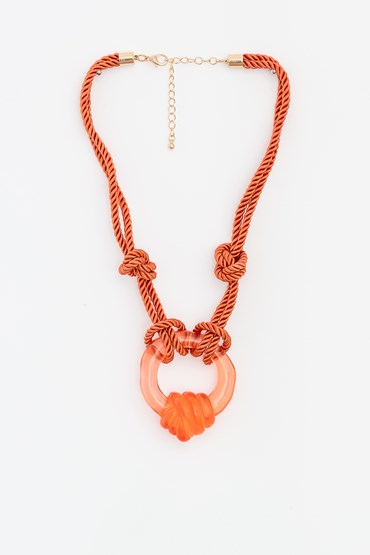 ROPE RESIN NECKLACE