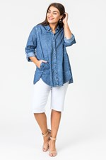 ENZYME POCKET PAINTER SHIRT - chambray