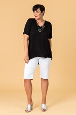 TAIL BACK ESSENTIAL TEE - black
