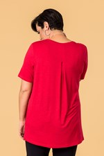 TAIL BACK ESSENTIAL TEE - red
