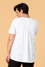 SHAKE YOUR TAIL FEATHER TEE - white