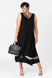 FAIRVIEW MESH TRIM DRESS