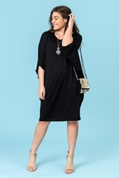 STRAP BACK DOLMAN DRESS
