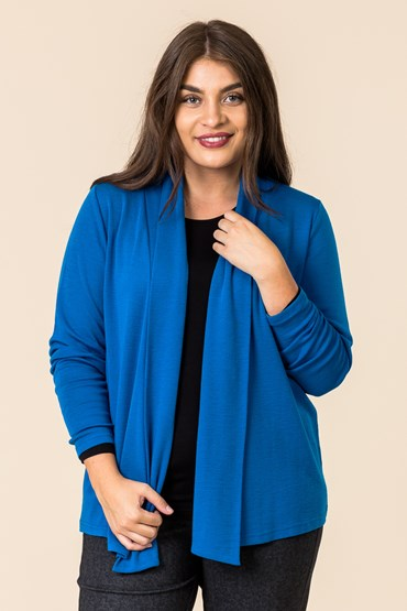 MERINO BUTTON BACK CARDI
