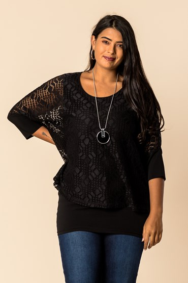 LACE DOULBE LAYER TOP