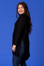 STEP DOWN HEMLINE JUMPER - black