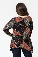 PATCH WORK PRINT TRAPEZE TOP - patchwork