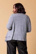 DOUBLE LAYER CARDI - greymarle